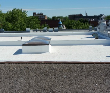 Roof in Montreal preparing for Thermo-Shield