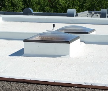 Thermo-Shield on roof in Montreal